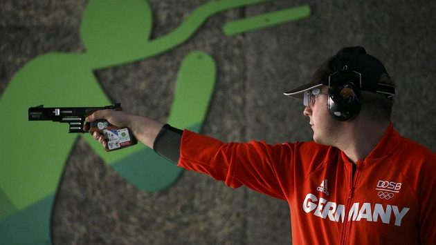 Němec Christian Reitz (na snímku) se stal olympijským vítězem v rychlopalné pistoli.