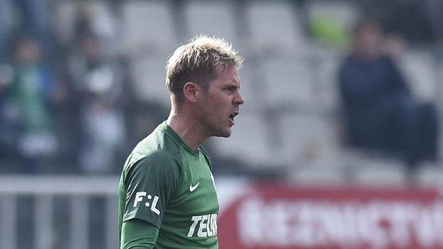 Tomáš Hübschman z Jablonce proti Dukle dal rozhodující gól na 2:1.