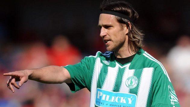 Obránce Václav Drobný na snímku z dubna 2010 v dresu Bohemians Praha v utkání Gambrinus ligy s pražskou Spartou.