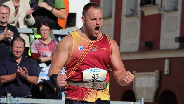 Tomáš Staňěk při loňském mistrovství republiky v Táboře.