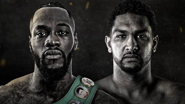 Deontay Wilder (vlevo) a Dominic Breazeale. Bitva dvou Američanů o titul profesionálního mistra světa těžké váhy organizace WBC.
