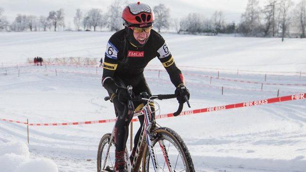 Emil Hekele na trati Mistrovsví republiky v Hlinsku.
