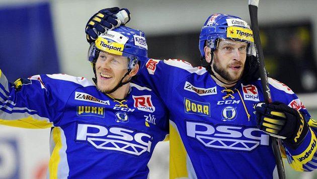 Ondřej Veselý (vpravo) v nejbližších dvou zápasech Zlínu nepomůže.