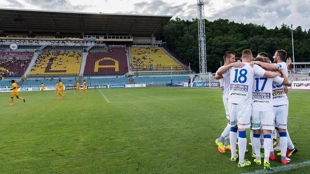 Radost fotbalistů Teplic - ilustrační foto