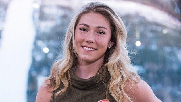 Americká sjezdařka Mikaela Shiffrinová.