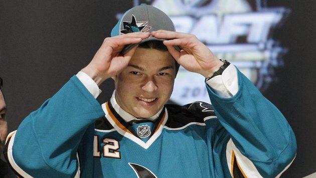 Tomáš Hertl během draftu NHL
