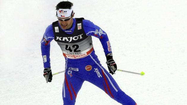 Český sprinter Dušan Kožíšek.