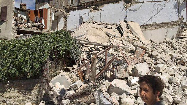 Situace v Accumuli di Rieti, jednom z postižených míst střední Itálie.