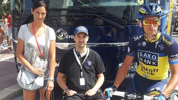 Michaela Kreuzigerová dorazila na Tour i se svým bratrem Pavlem.