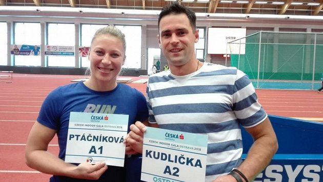 Jiřina Ptáčníková s Janem Kudličkou před mítinkem Czech Indoor Gala.