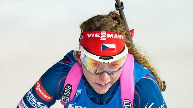 Markéta Davidová během sprintu žen ve Vysočina Areně.