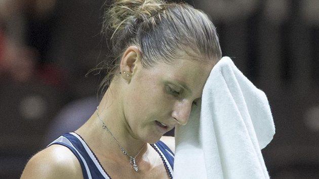Karolína Plíšková nebyla v duelu se Švýcarkou Golubicovou ve své kůži.