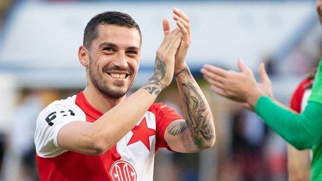 Slávista Nicolae Stanciu se zase mohl radovat ze vstřelených gólů.