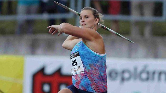 Barbora Špotáková při generálce na londýnské mistrovství světa v Táboře.