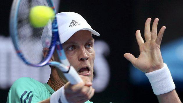 Bašičovi z Bosny nadělil šeský tenista Tomáš Berdych v druhé sadě dokonce kanára.