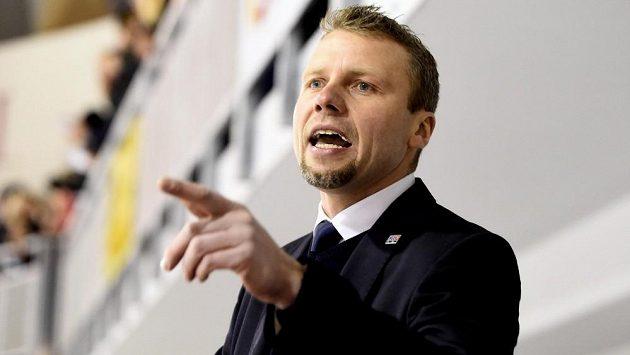 Trenér hokejové osmnáctky Jakub Petr.