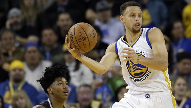 Opora basketbalistů Golden State Warriors Stephen Curry.