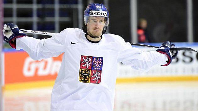 Útočník České hokejové reprezentace Roman Červenka.