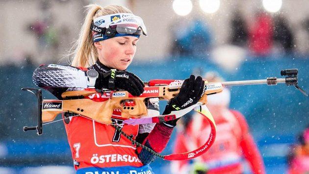 Česká biatlonistka Eva Kristejn Puskarčíková.