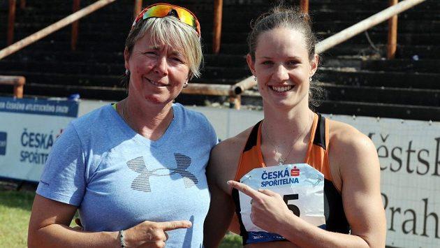 Spokojená dvojka. Svěřenkyně Martiny Blažkové (vlevo) Kateřina Cachová si v Edenu vybojovala start na olympiádě v Riu.