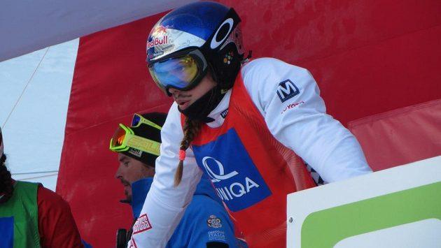 Eva Samková na startu při mistrovství světa v rakouském Kreischbergu - archivní snímek.