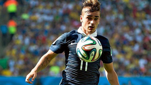 Francouzský reprezentant Antoine Griezmann na světovém šampionátu v Brazílii.