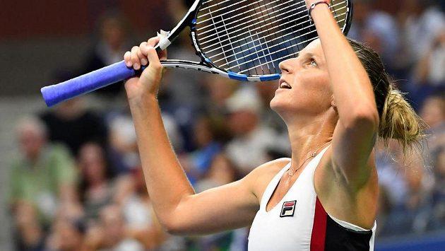 Dobojováno. Karolína Plíšková si užívá postup do finále US Open.