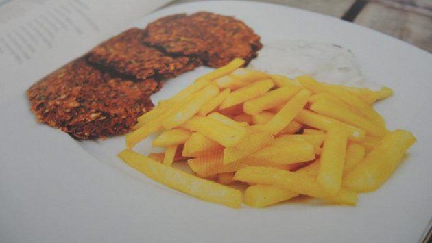 Karbanátek, hranolky a tatarka. Ale úplně jinak. Bez masa, smažení.