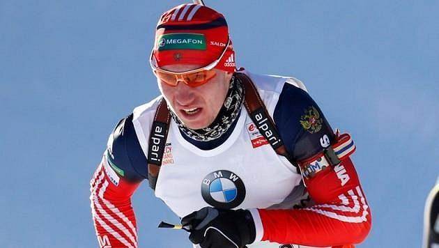 Ruský biatlonista Alexandr Loginov na archviním snímku.