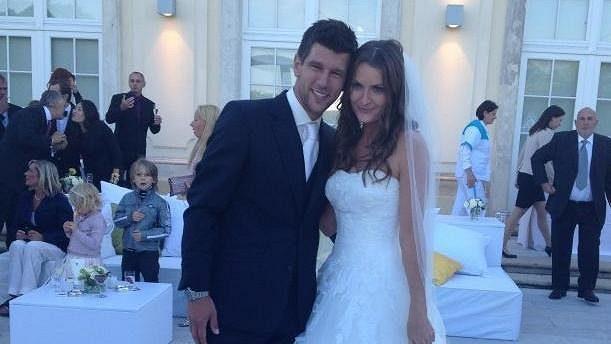 Iveta Melzerová-Benešová s manželem Jürgenem Melzerem.