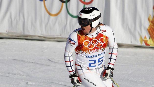 Český lyžař Ondřej Bank na olympiádě v Soči.