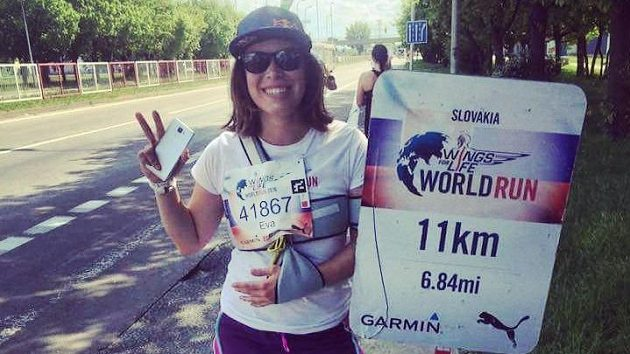 Rekonvalescenci si Eva Samková zpestřila u závodem Wings for Life v Bratislavě.