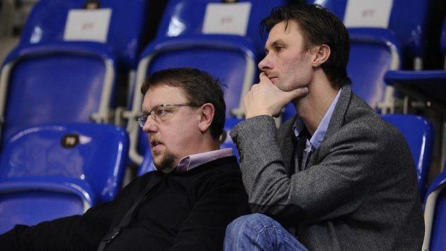 Radim Cepek (vpravo) a Zdeněk Skružný pečlivě sledovali národní tým již na MS ve Švýcarsku.