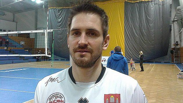Českobudějovický volejbalista Martin Kryštof.