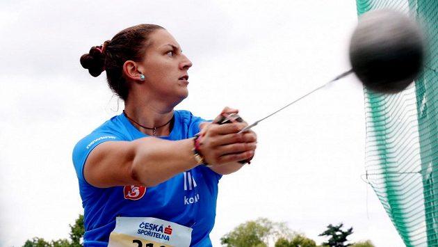 Kladivářka Kateřina Šafránková při mistrovství republiky v Táboře.