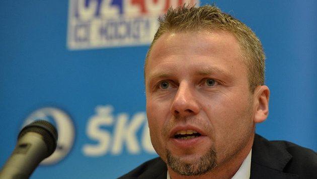 Trenér české hokejové reprezentace do dvaceti let Jakub Petr.