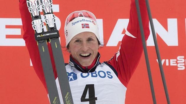 Radost norské lyžařky Marit Björgenové.
