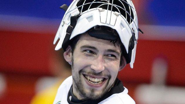 Reprezentační gólman Lukáš Bauer.