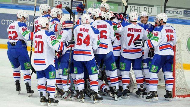Radost hokejistů Lev Praha