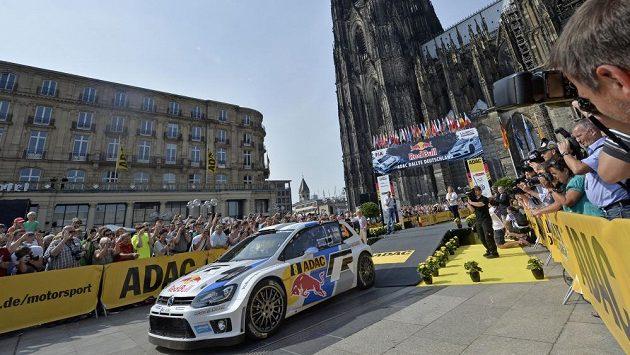 Sebastien Ogier při startu Německé rallye.