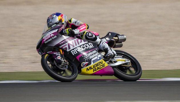 Motocyklový jezdec Filip Salač v akci