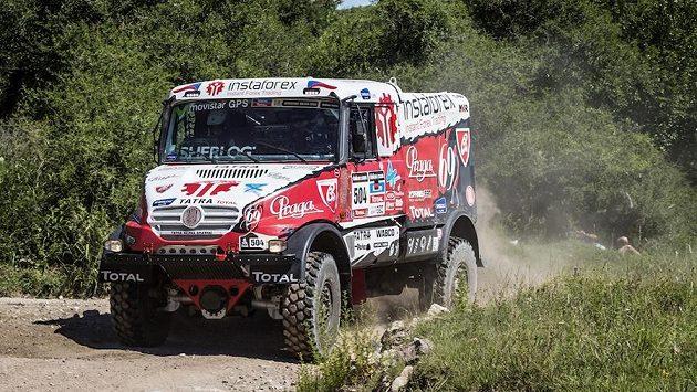 Aleš Loprais s vozem Tatra na trati Rallye Dakar.