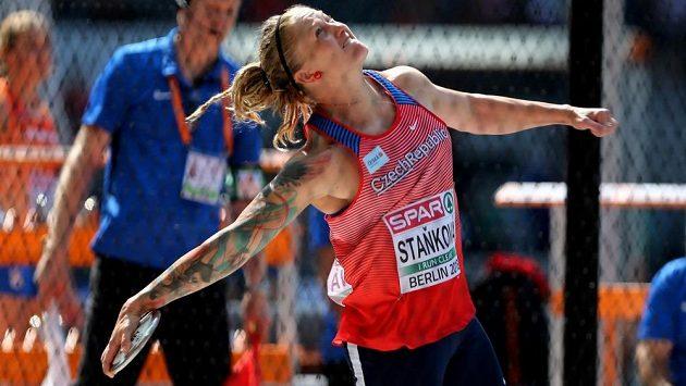Diskařka Eliška Staňková v kvalifikaci mistrovství Evropy v Berlíně.