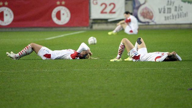 Fotbalisky Slavie po prohře s Fiorentinou v Lize mistryň končí.