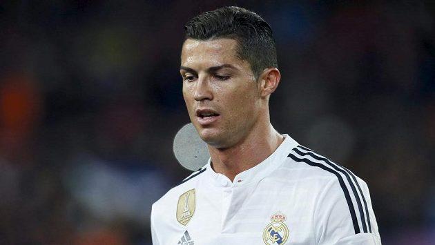 Zklamaná hvězda Realu Madrid Cristiano Ronaldo.