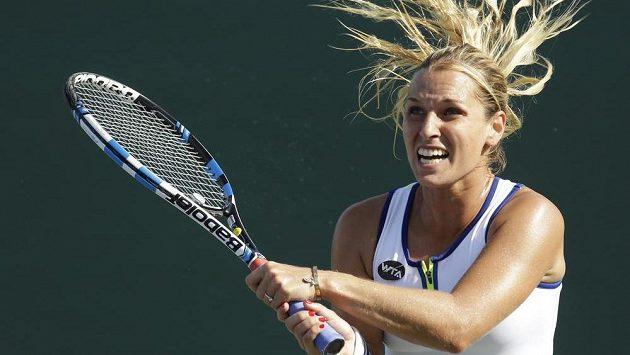 Dominika Cibulková během turnaje v Miami. Po návratu na Slovensko se pustila do dopingové hříšnice Šarapovové.