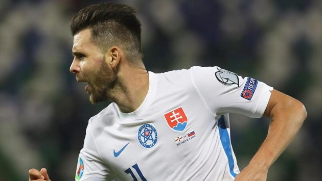 A jsme tam! Michal Ďuriš vystřelil Slovensku v Belfastu postup na EURO
