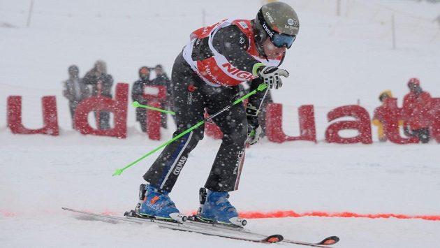 Francouzský lyžař Jean Fredéric Chapuis během SP ve skikrosu