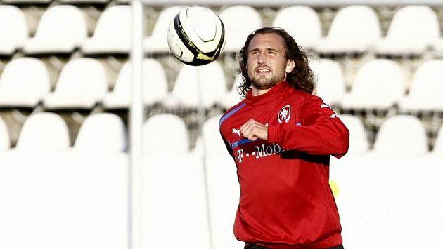 Petr Jiráček na tréninku fotbalové reprezentace.