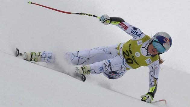 Americká lyžařka Lindsey Vonnová během kombinace v Soldeu.